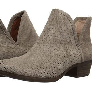 Lucky Brand Baley perforated suede Ankle Booties